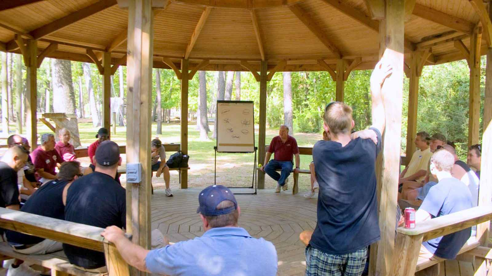 Gazebo meeting space at the Challenge Course