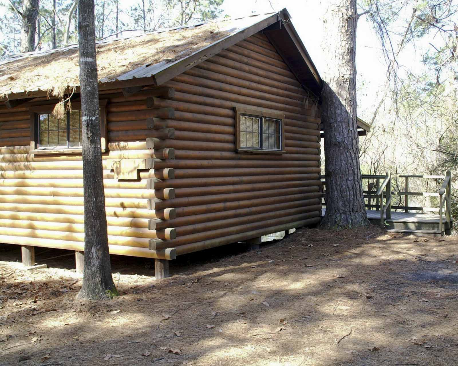 Mirabeau Lamar - One Room Log Cabin