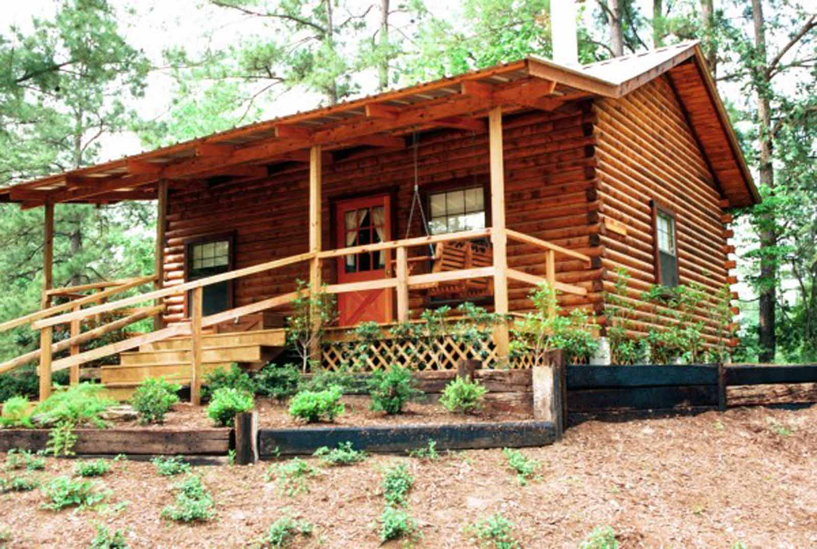 Sam Houston One Bedroom with Loft Log Cabin