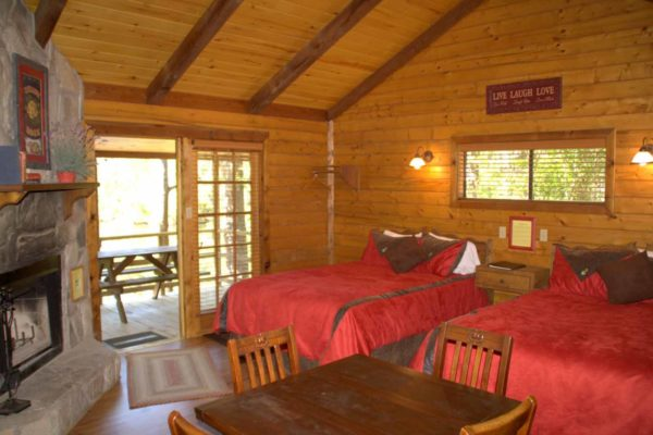 Yellow Rose - One Room Log Cabin