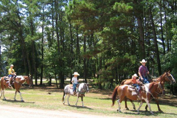 Horseback, kids best