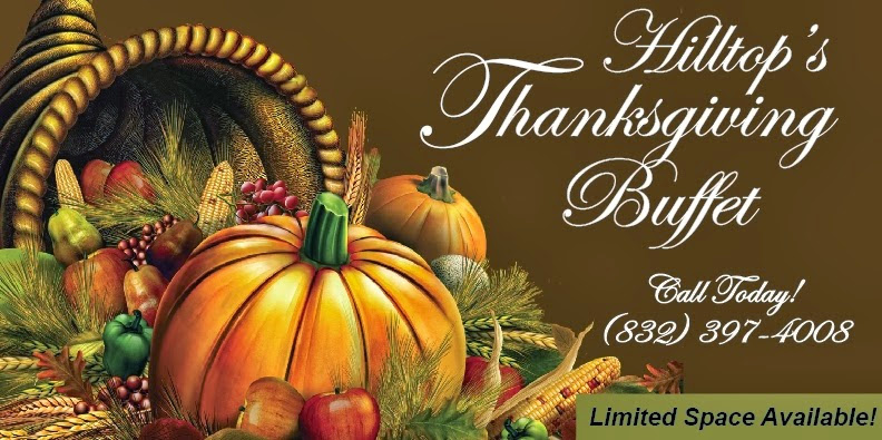 Thanksgiving Buffet at Hilltop Restaurant